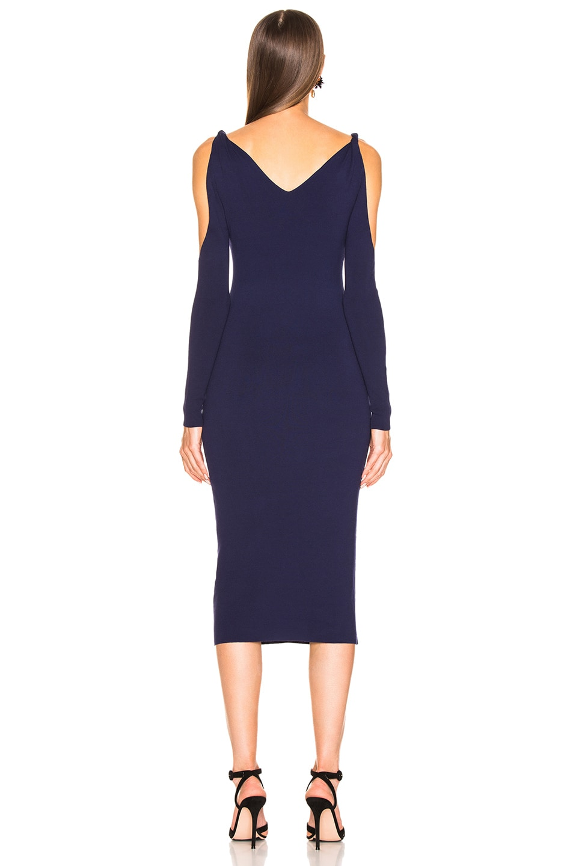 Image 3 of Dion Lee Twist Sleeve Dress in Ink