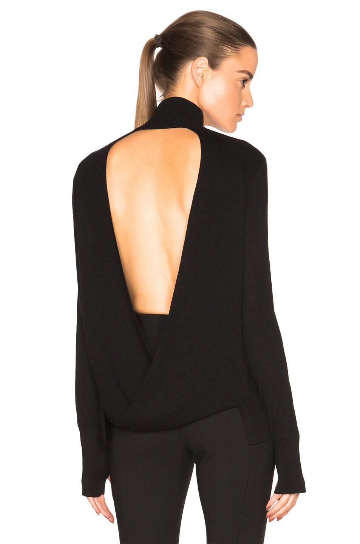 Image 1 of Dion Lee Loop Back Skivvy Sweater in Black
