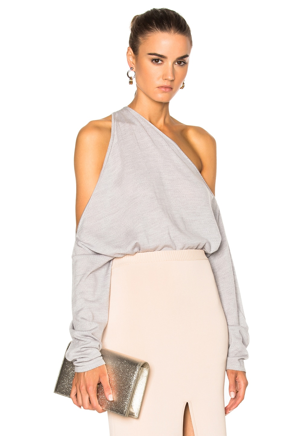 Image 1 of Dion Lee Merino Falling Sweater in Dove