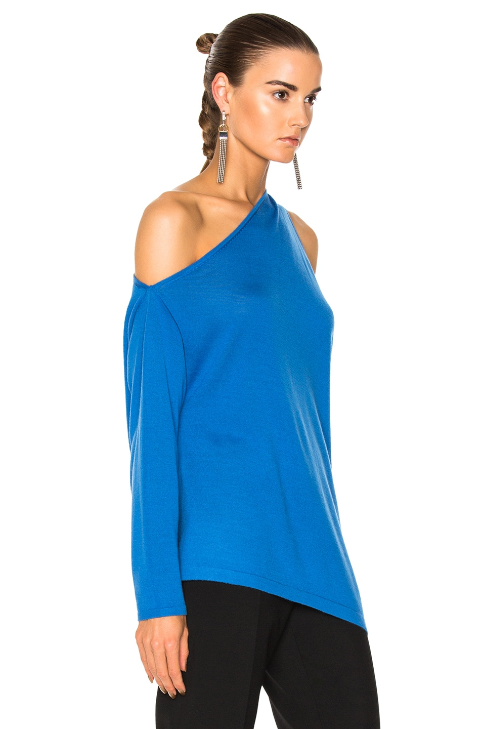 Image 2 of Dion Lee Falling Knit Sweater in Cerulean Blue