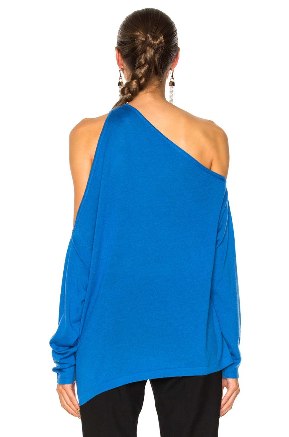 Image 4 of Dion Lee Falling Knit Sweater in Cerulean Blue