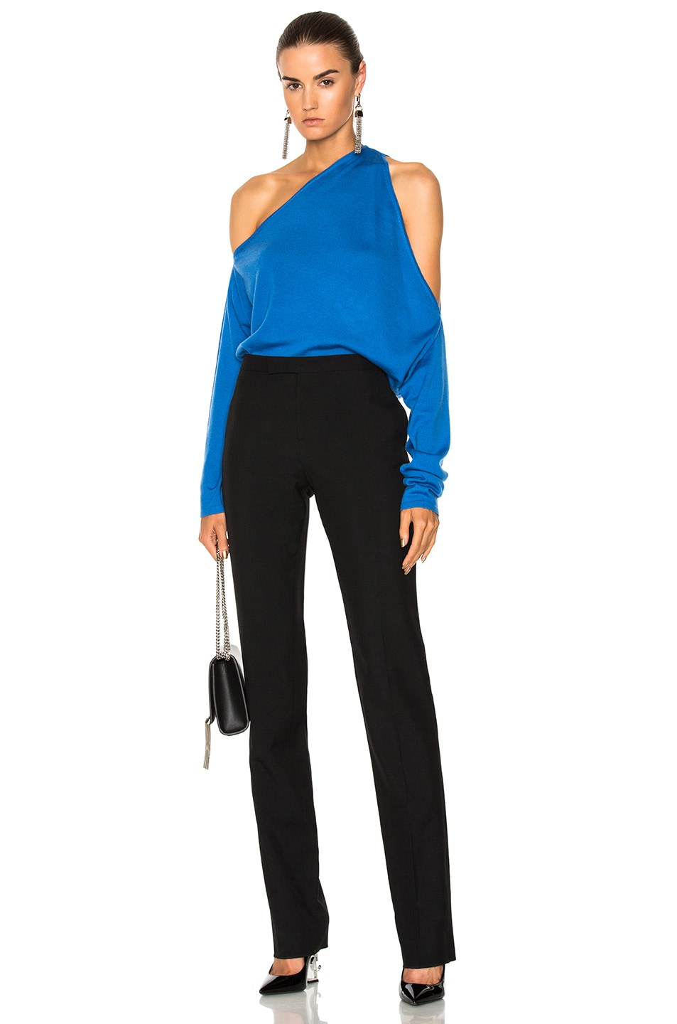 Image 5 of Dion Lee Falling Knit Sweater in Cerulean Blue