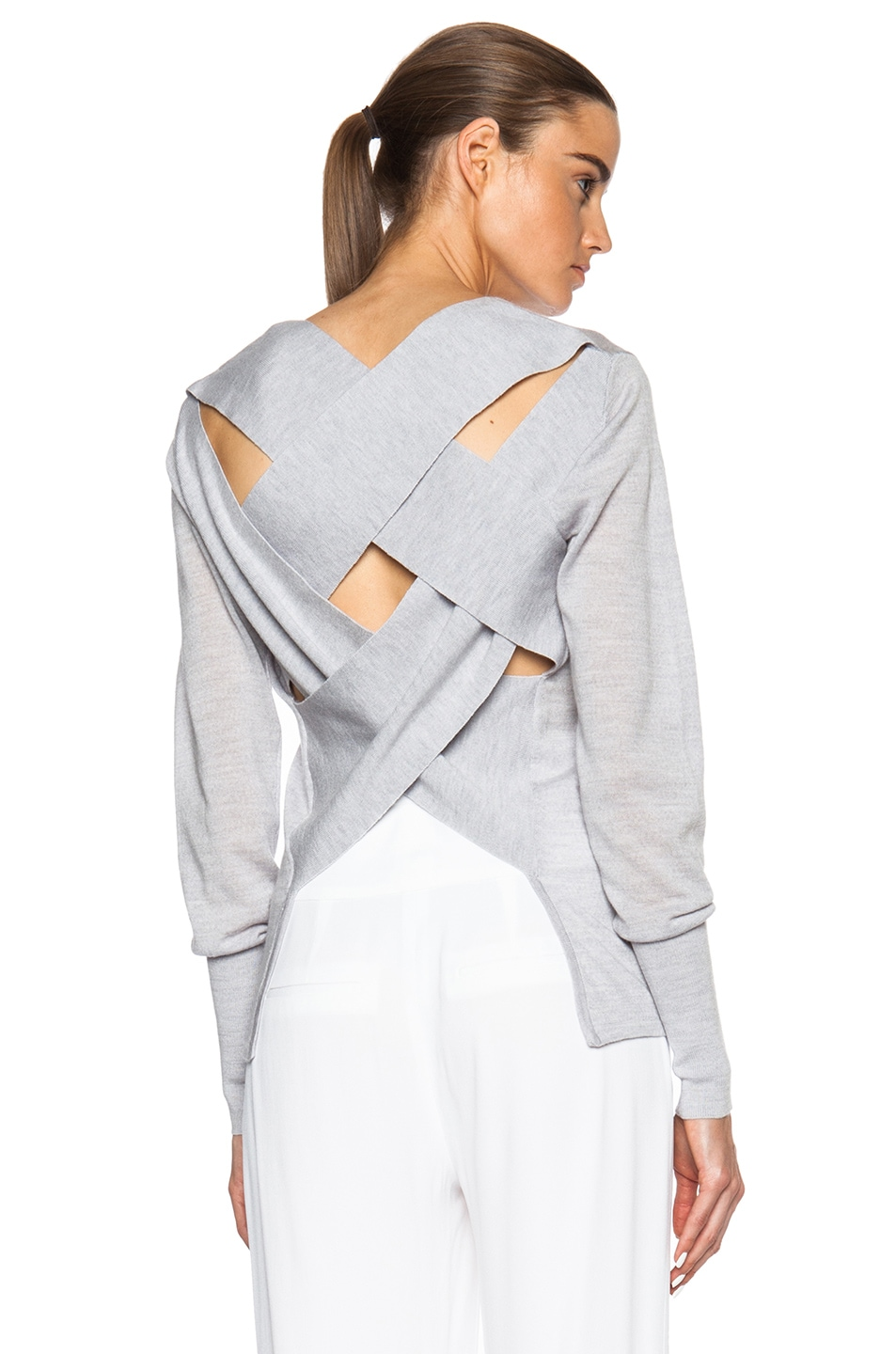 Image 1 of Dion Lee II Bandage Back Sweater in Grey
