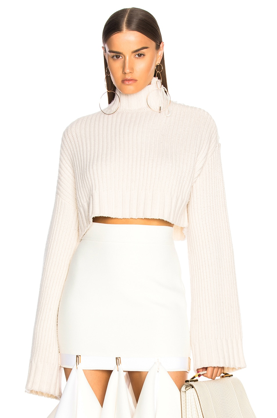 Image 1 of Dion Lee Aviation Oversized Sweater in Ivory