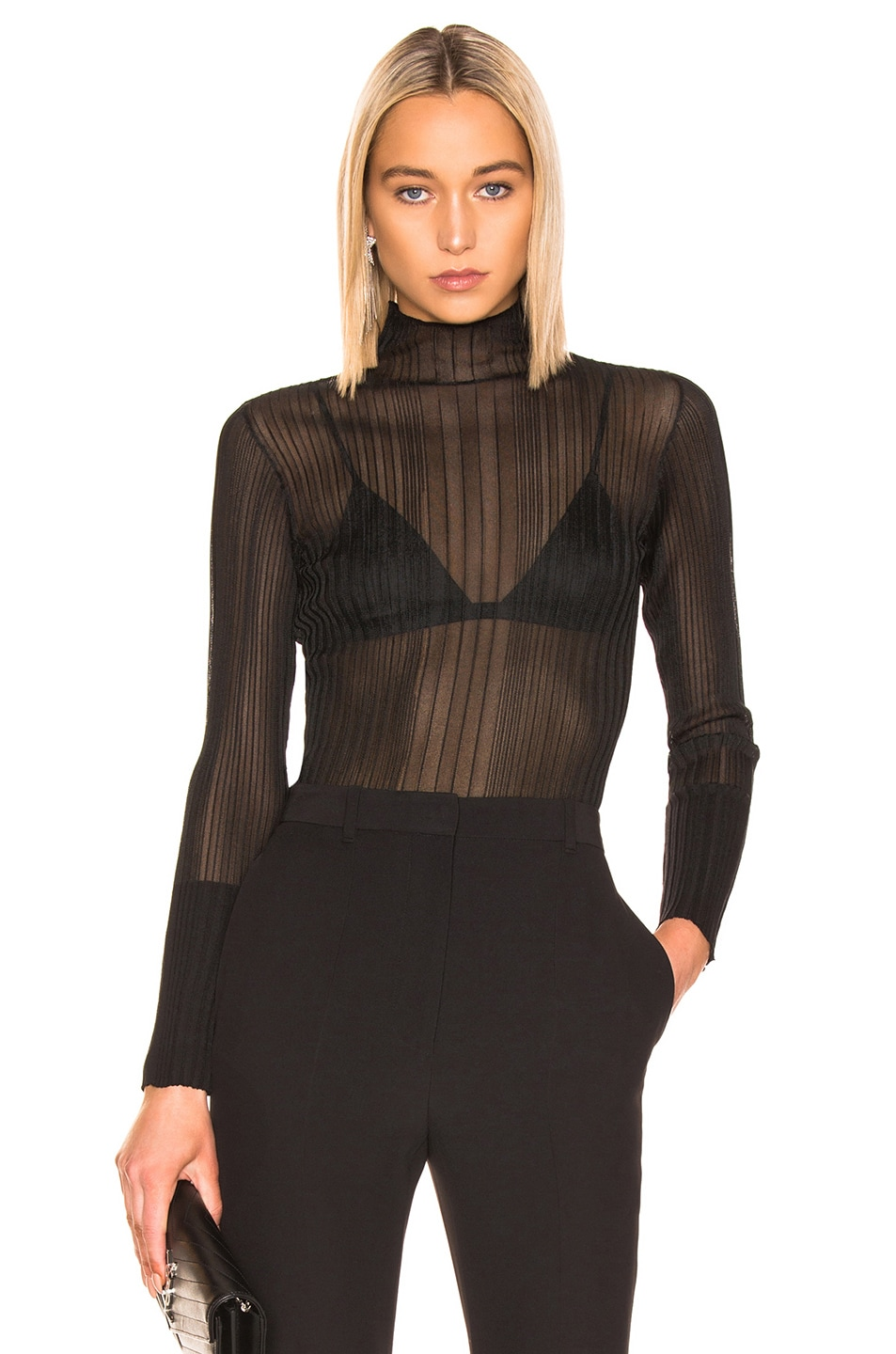 Image 1 of Dion Lee Opacity Pleat Sweater in Black