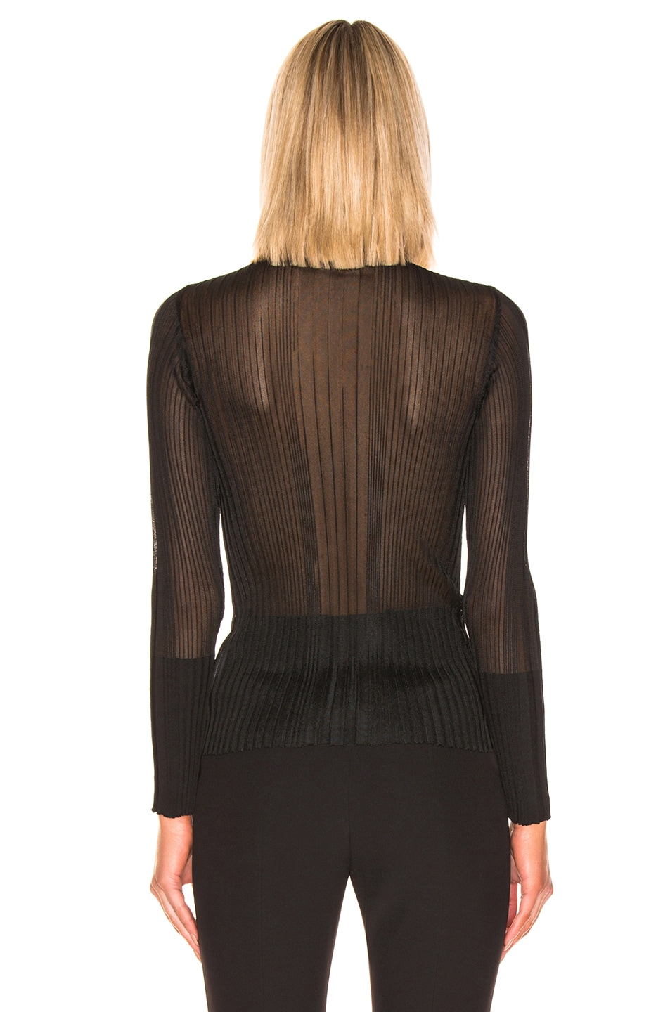 Image 3 of Dion Lee Opacity Pleat Sweater in Black