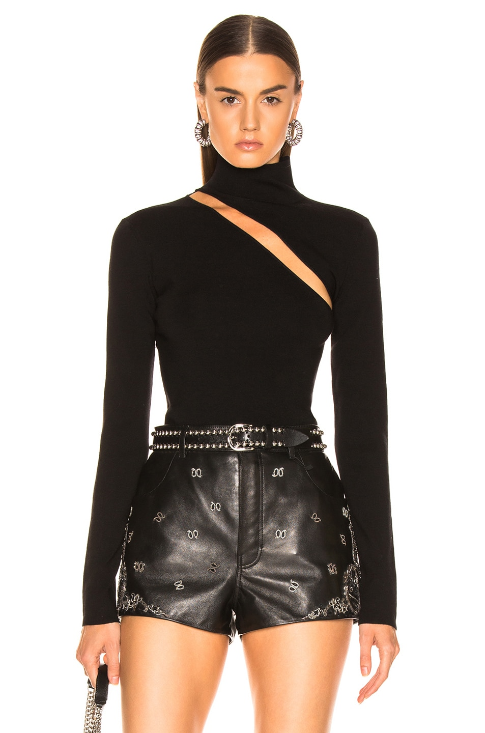 Image 1 of Dion Lee Lingerie Hook Turtleneck Sweater in Black