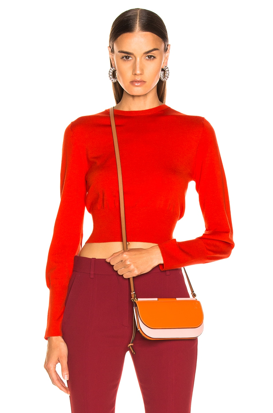 Image 2 of Dion Lee Lingerie Hook Sweater in Vermillion
