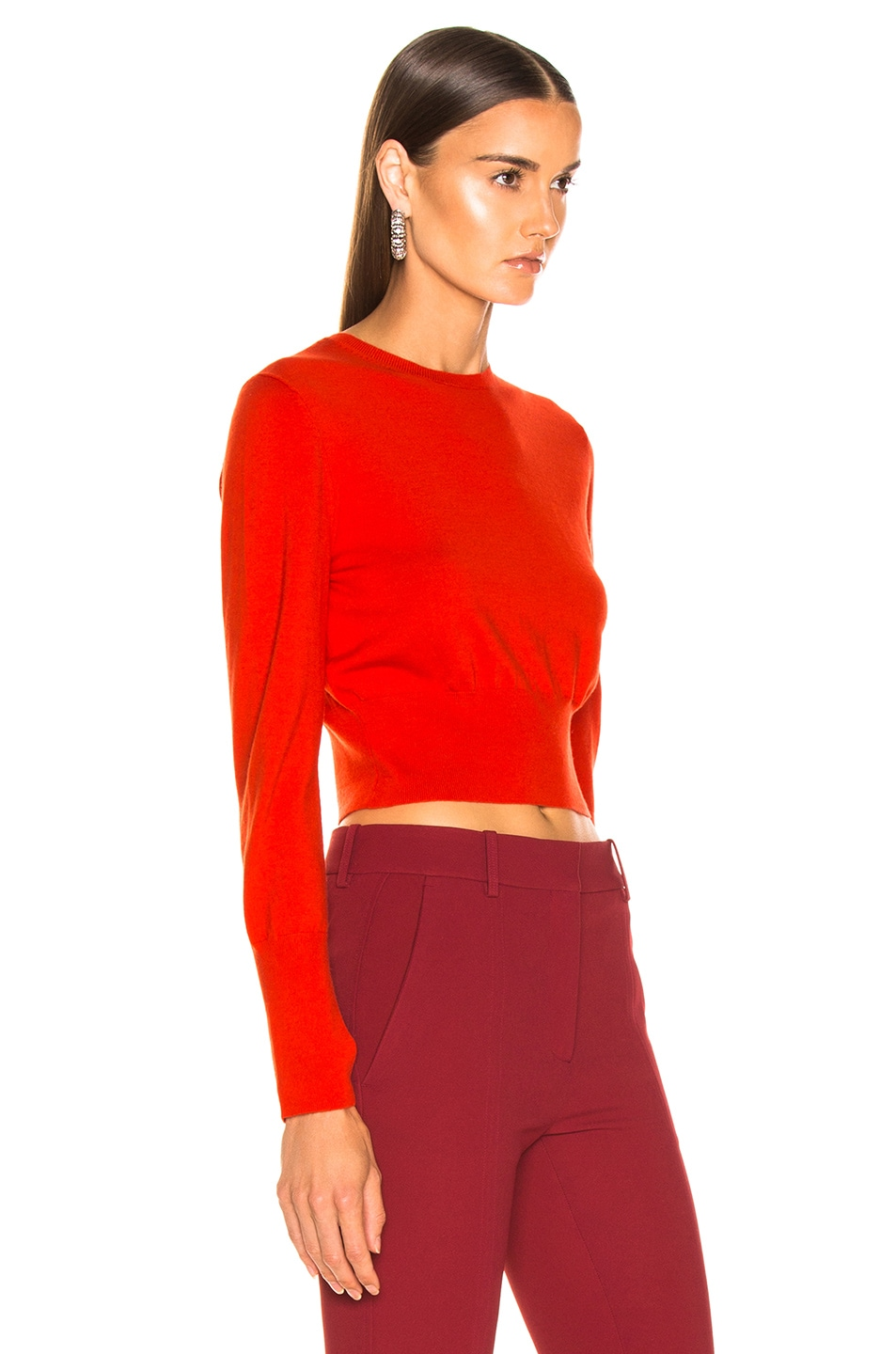 Image 3 of Dion Lee Lingerie Hook Sweater in Vermillion