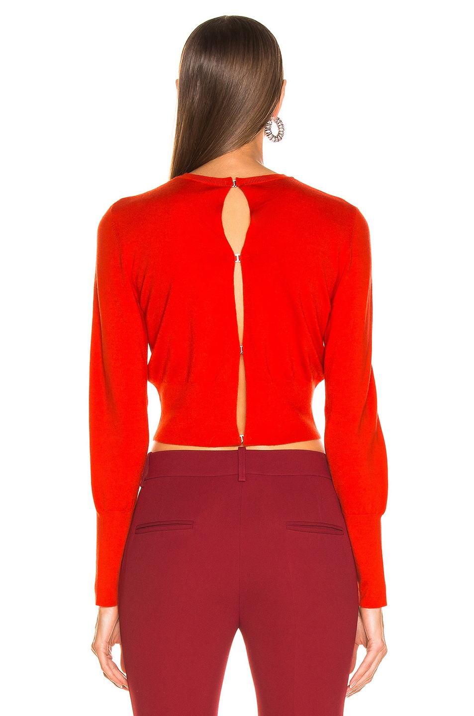 Image 4 of Dion Lee Lingerie Hook Sweater in Vermillion