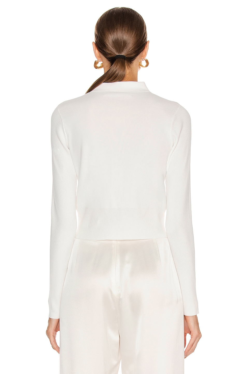 Image 3 of Dion Lee Density Cropped Cardigan Top in Ivory