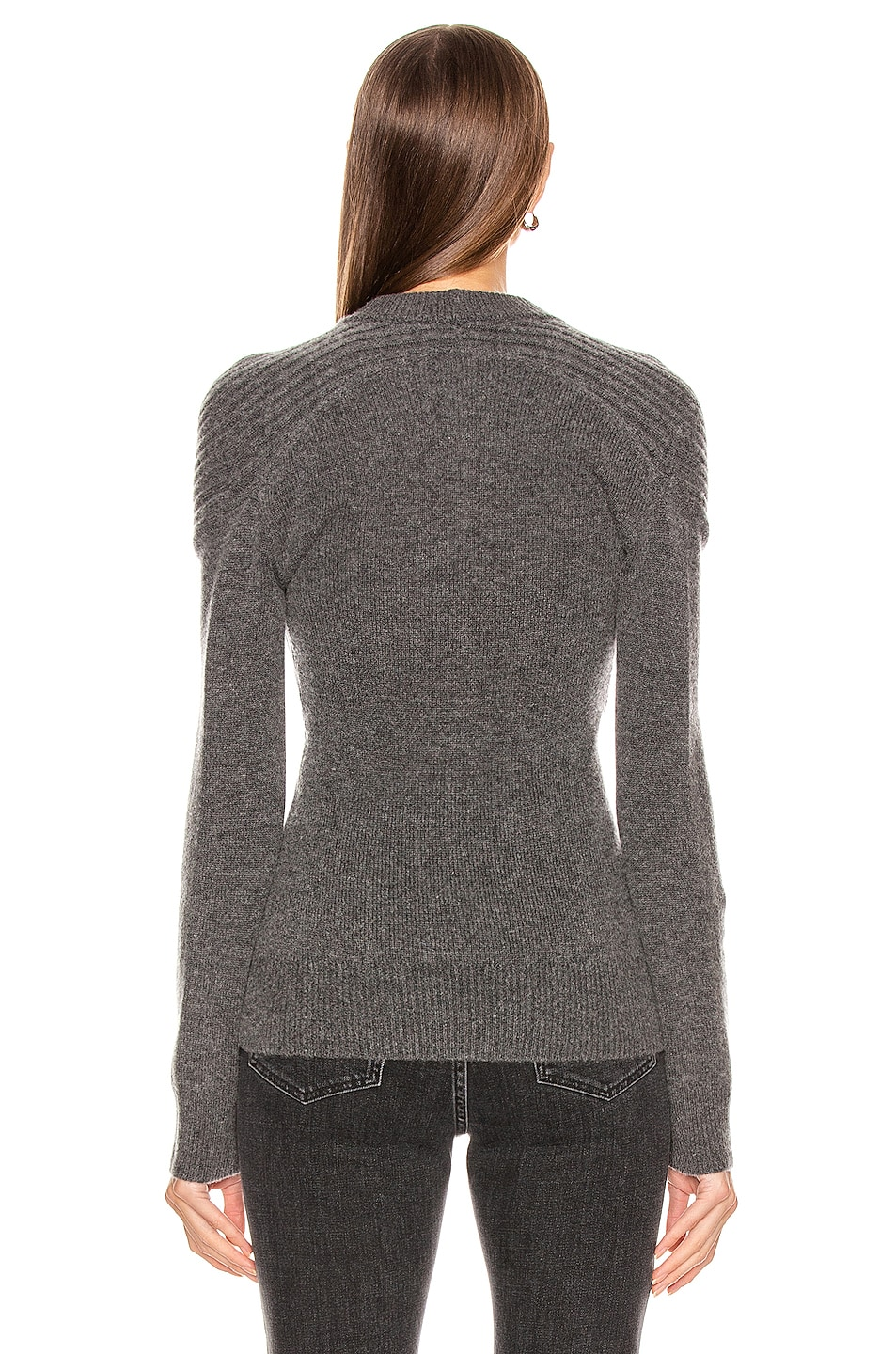 Image 3 of Dion Lee Cashmere Cable Tie Sweater in Charcoal