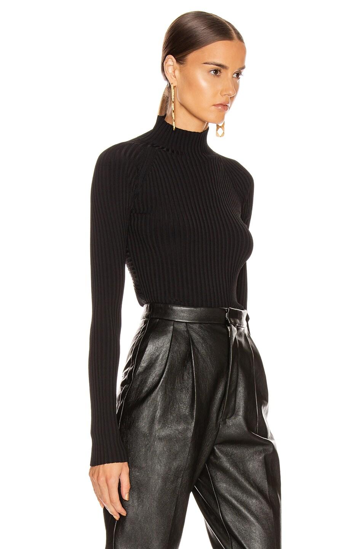 Image 3 of Dion Lee Twist Back Long Sleeve Sweater in Black