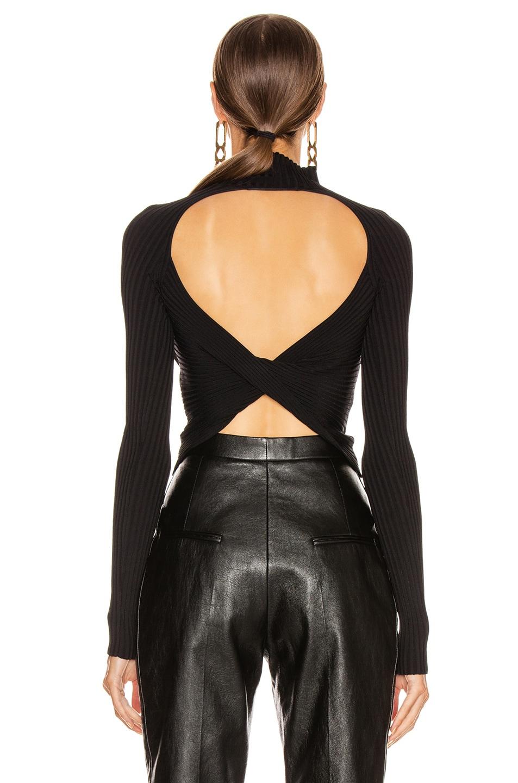 Image 4 of Dion Lee Twist Back Long Sleeve Sweater in Black