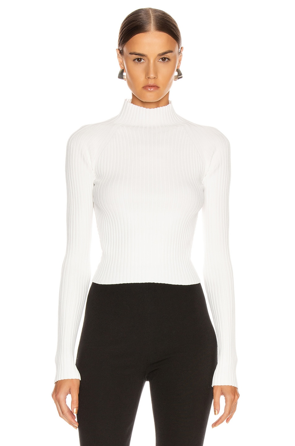 Image 2 of Dion Lee Twist Back Long Sleeve Sweater in Ivory