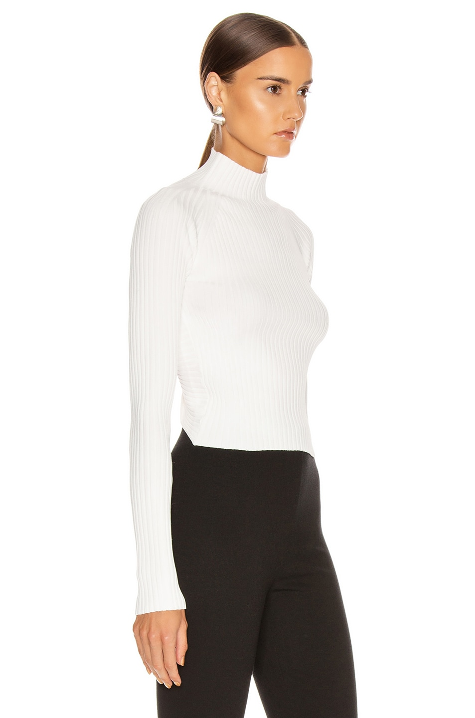 Image 3 of Dion Lee Twist Back Long Sleeve Sweater in Ivory