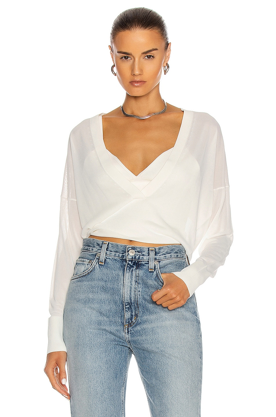 Image 1 of Dion Lee Loop Layered Sweater in White