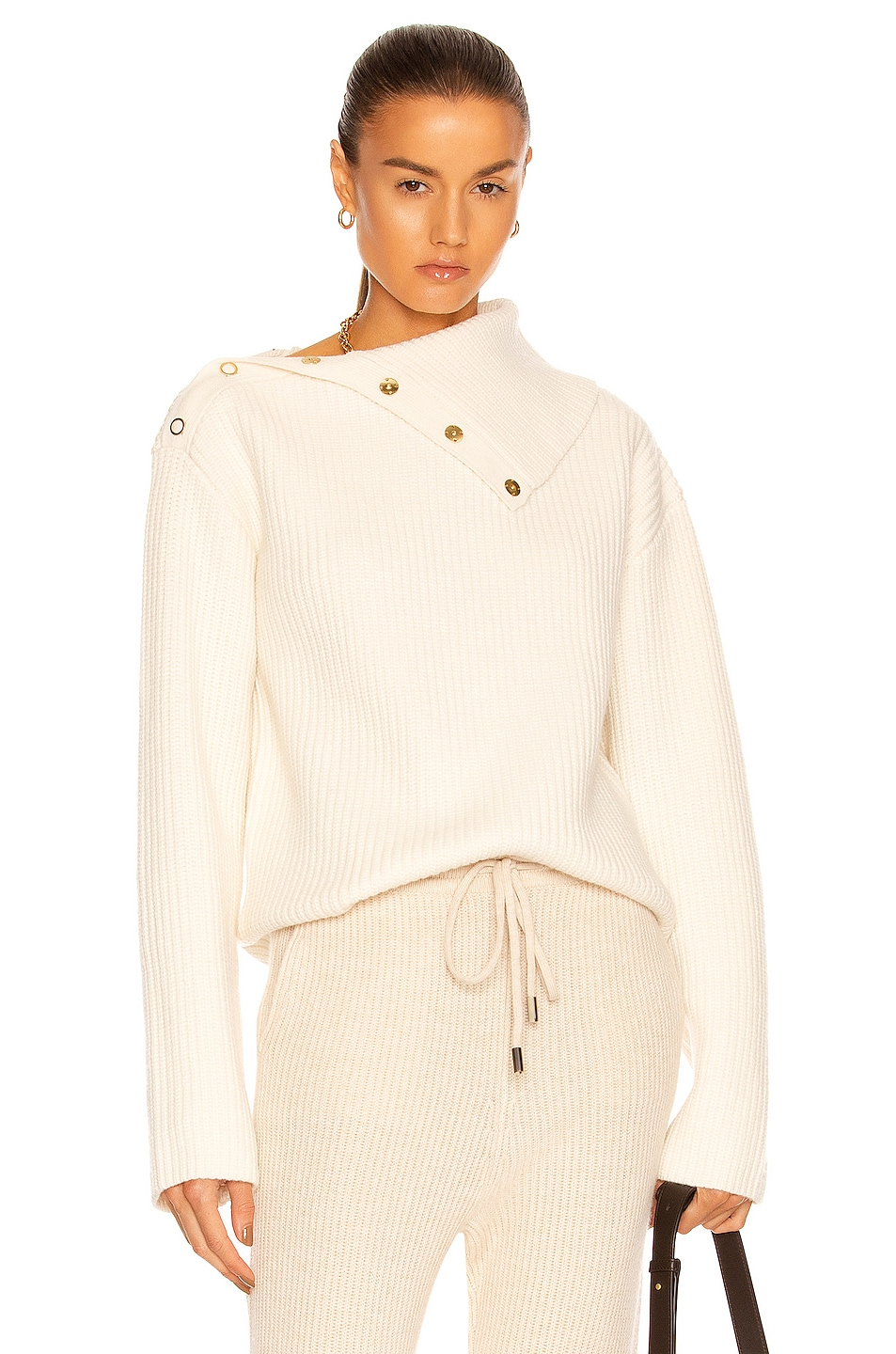 Image 1 of Dion Lee Snap Button Sweater in Ivory