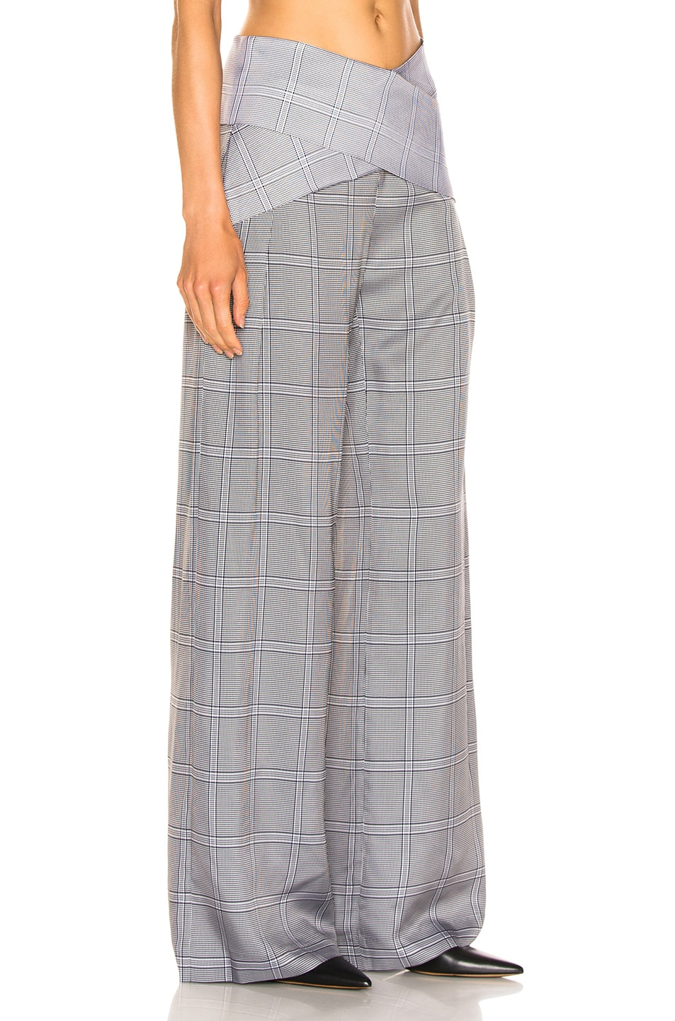 Image 2 of Dion Lee Check Viscose Pant in Navy Check