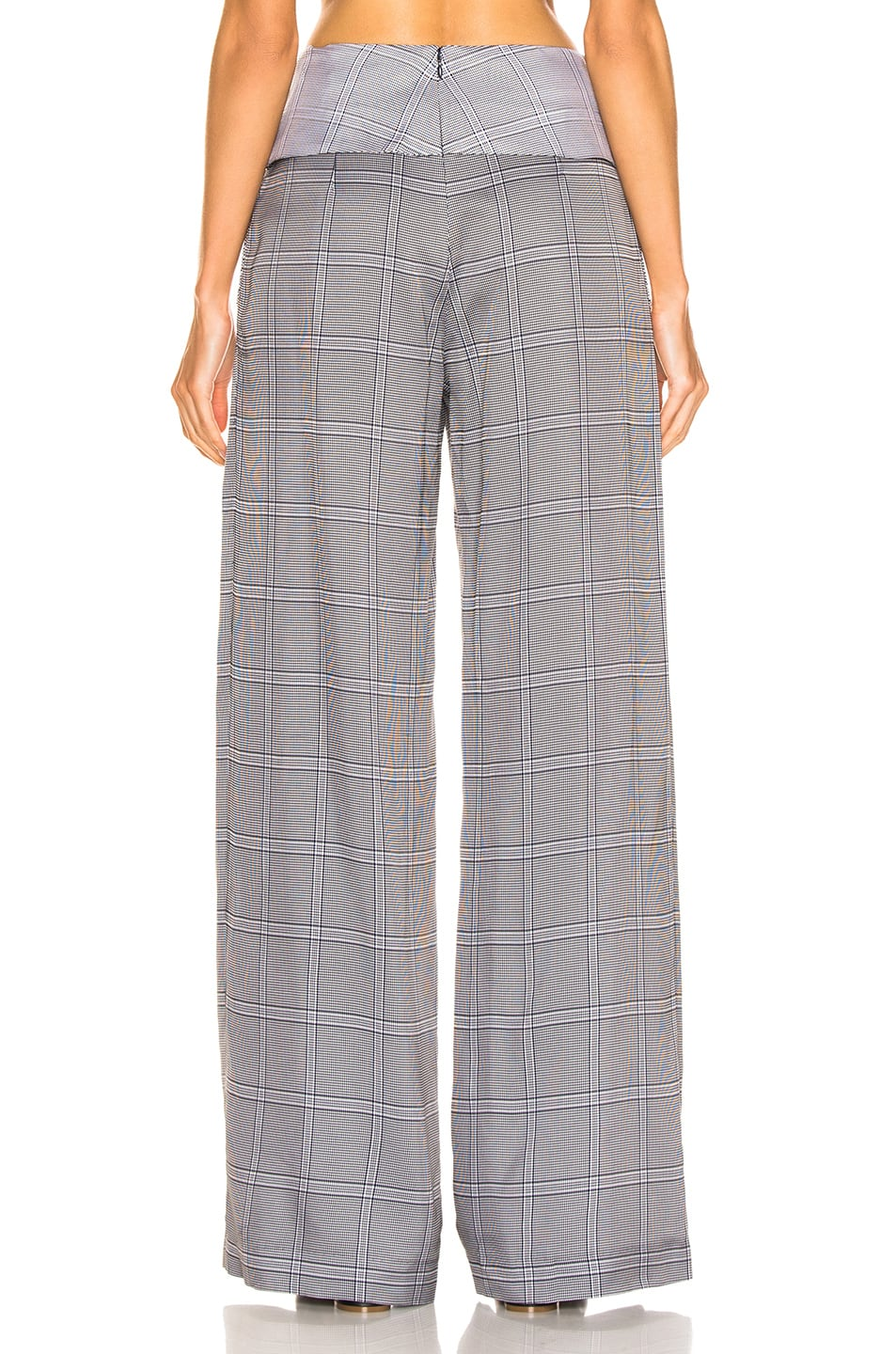 Image 3 of Dion Lee Check Viscose Pant in Navy Check