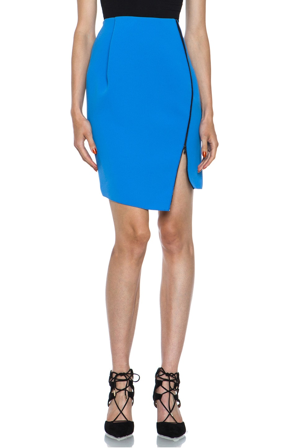 Image 1 of Dion Lee Bonded Crepe Skirt in Blue & Black