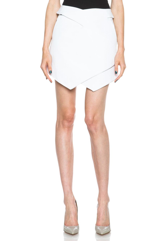 Image 1 of Dion Lee Vertigo Wrap Cotton Skirt in White
