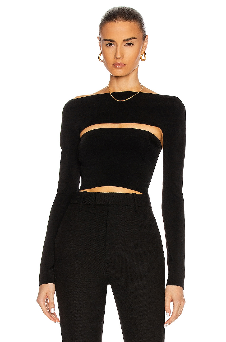 Image 1 of Dion Lee Two Piece Tube Top in Black
