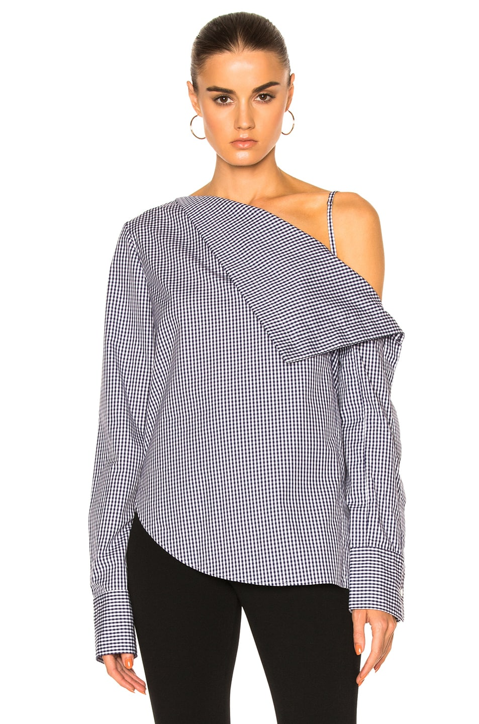 Image 1 of Dion Lee Axis Sleeve Shirt Top in Gingham