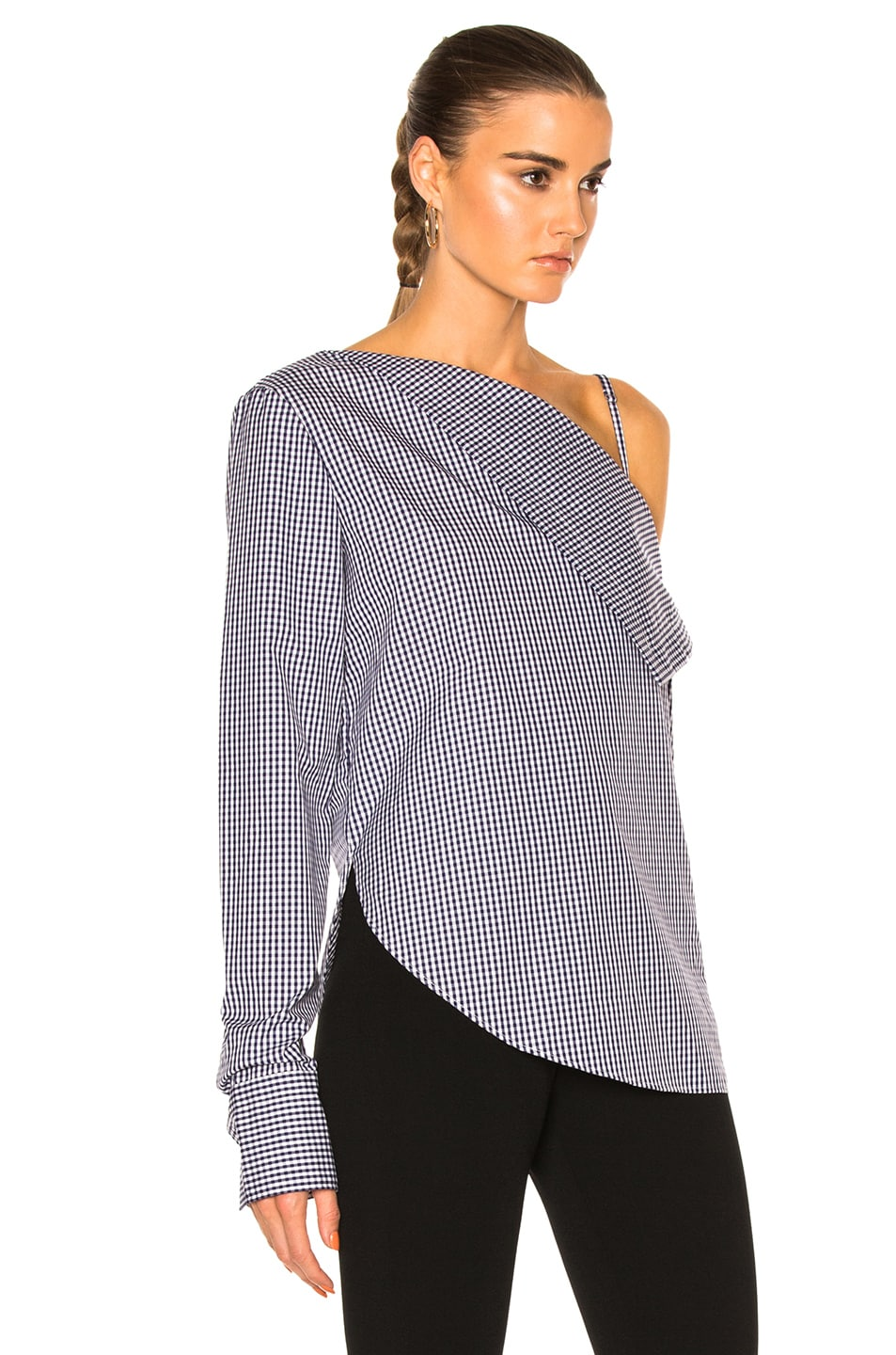 Image 3 of Dion Lee Axis Sleeve Shirt Top in Gingham
