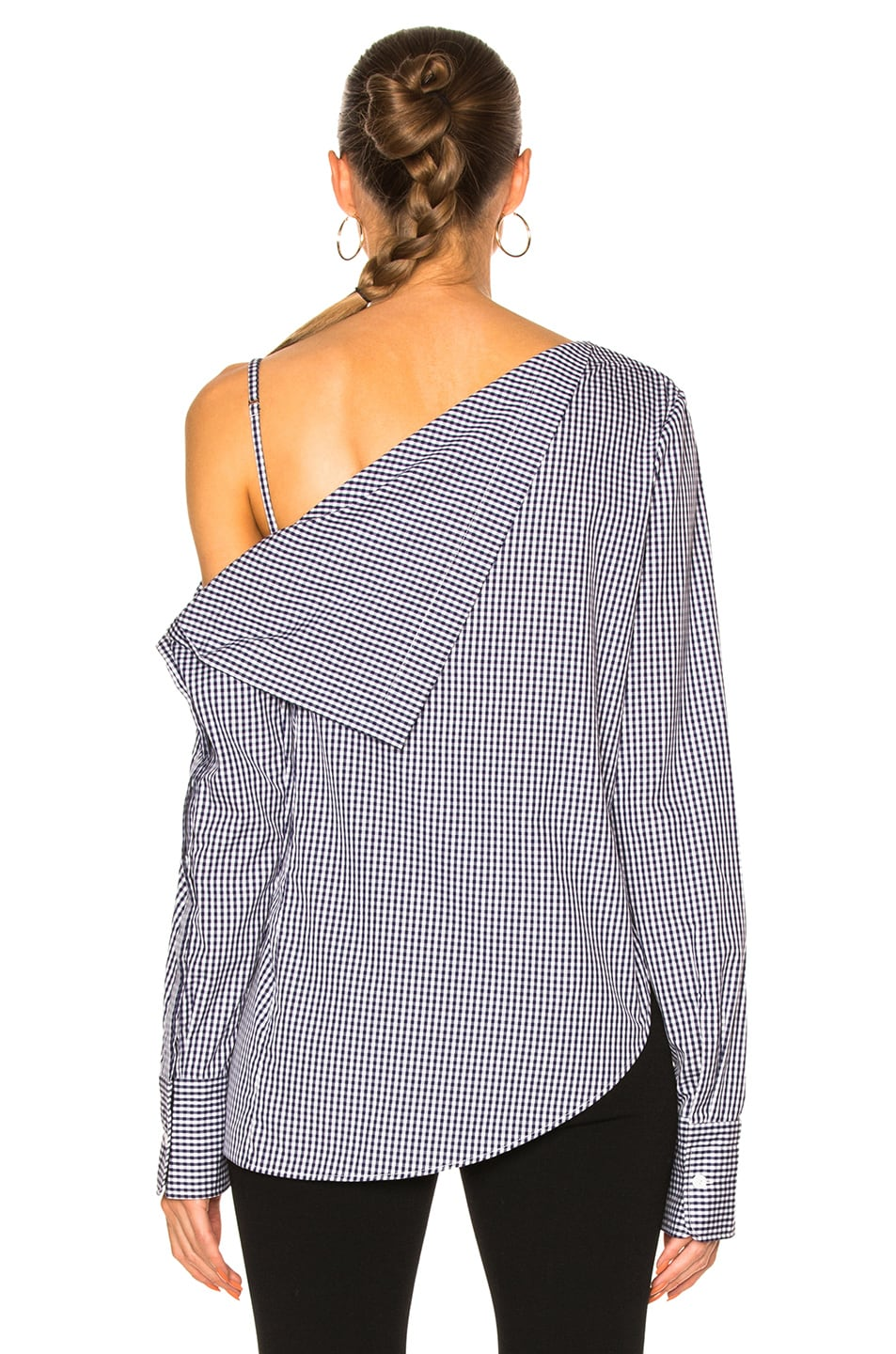 Image 4 of Dion Lee Axis Sleeve Shirt Top in Gingham