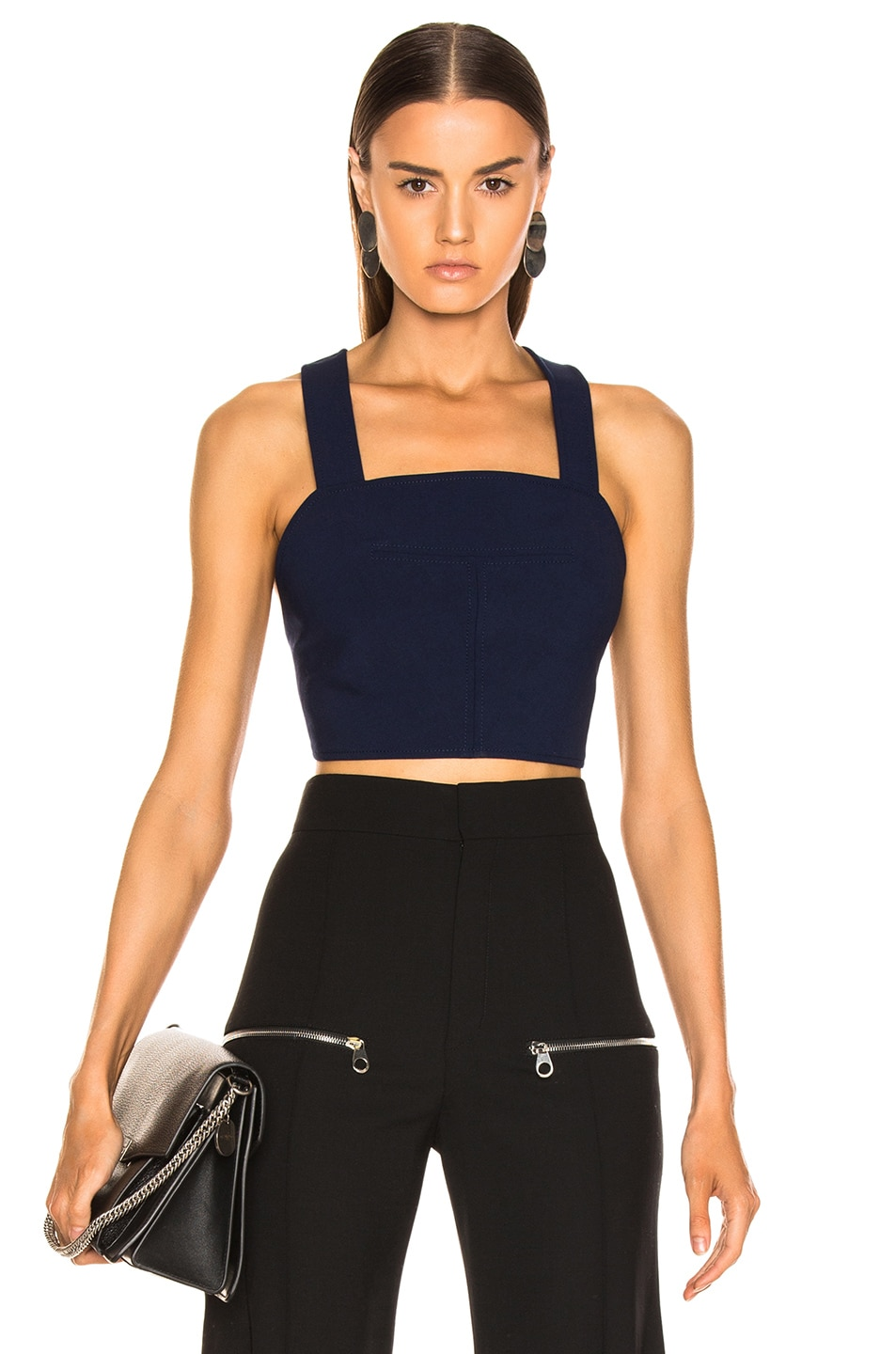 Dion Lee Utility Apron Top Navy outlet