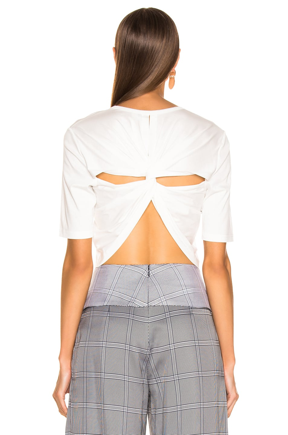 Image 4 of Dion Lee Twist Back Tee in White