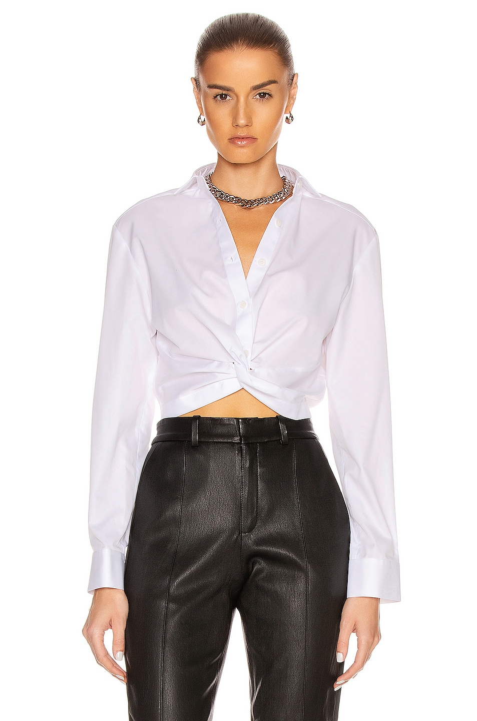Image 1 of Dion Lee Twist Placket Shirt in White