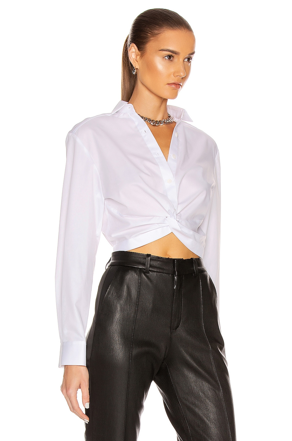 Image 2 of Dion Lee Twist Placket Shirt in White