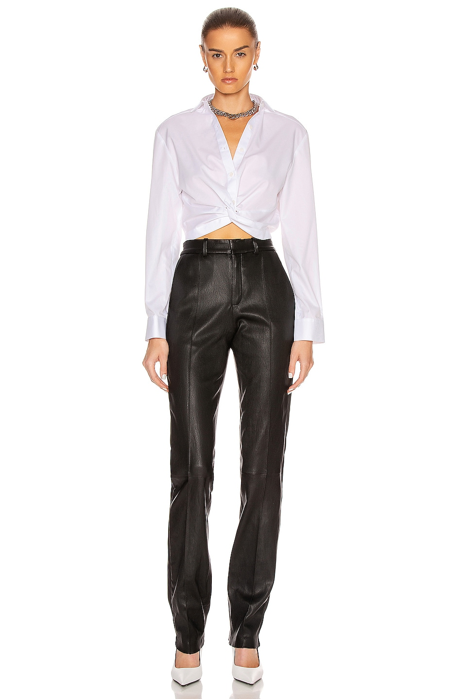 Image 4 of Dion Lee Twist Placket Shirt in White