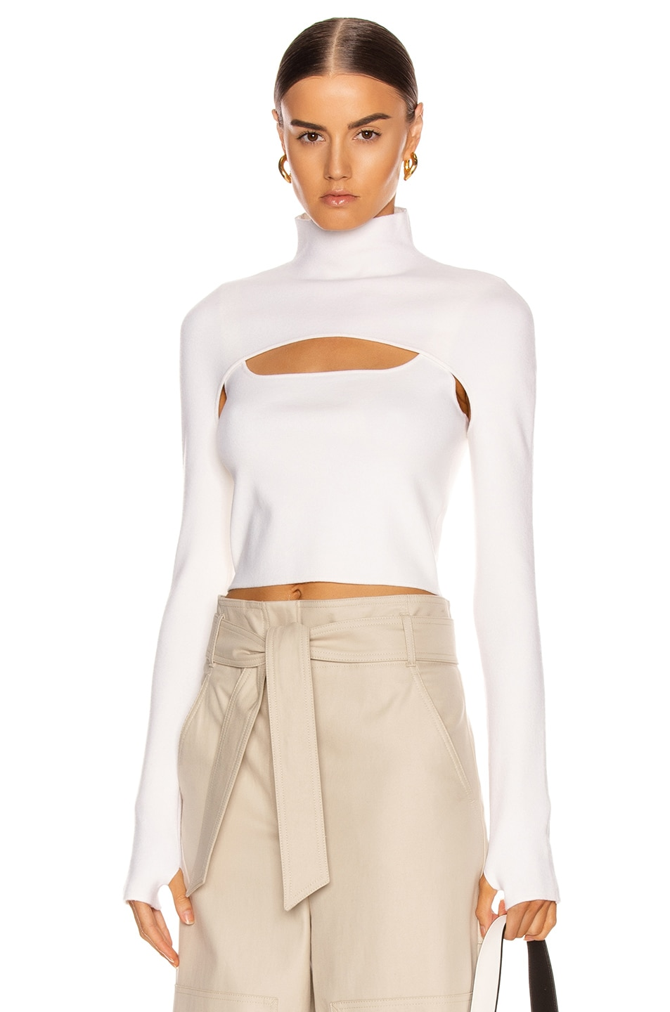 Image 1 of Dion Lee Stirrup Top in Ivory