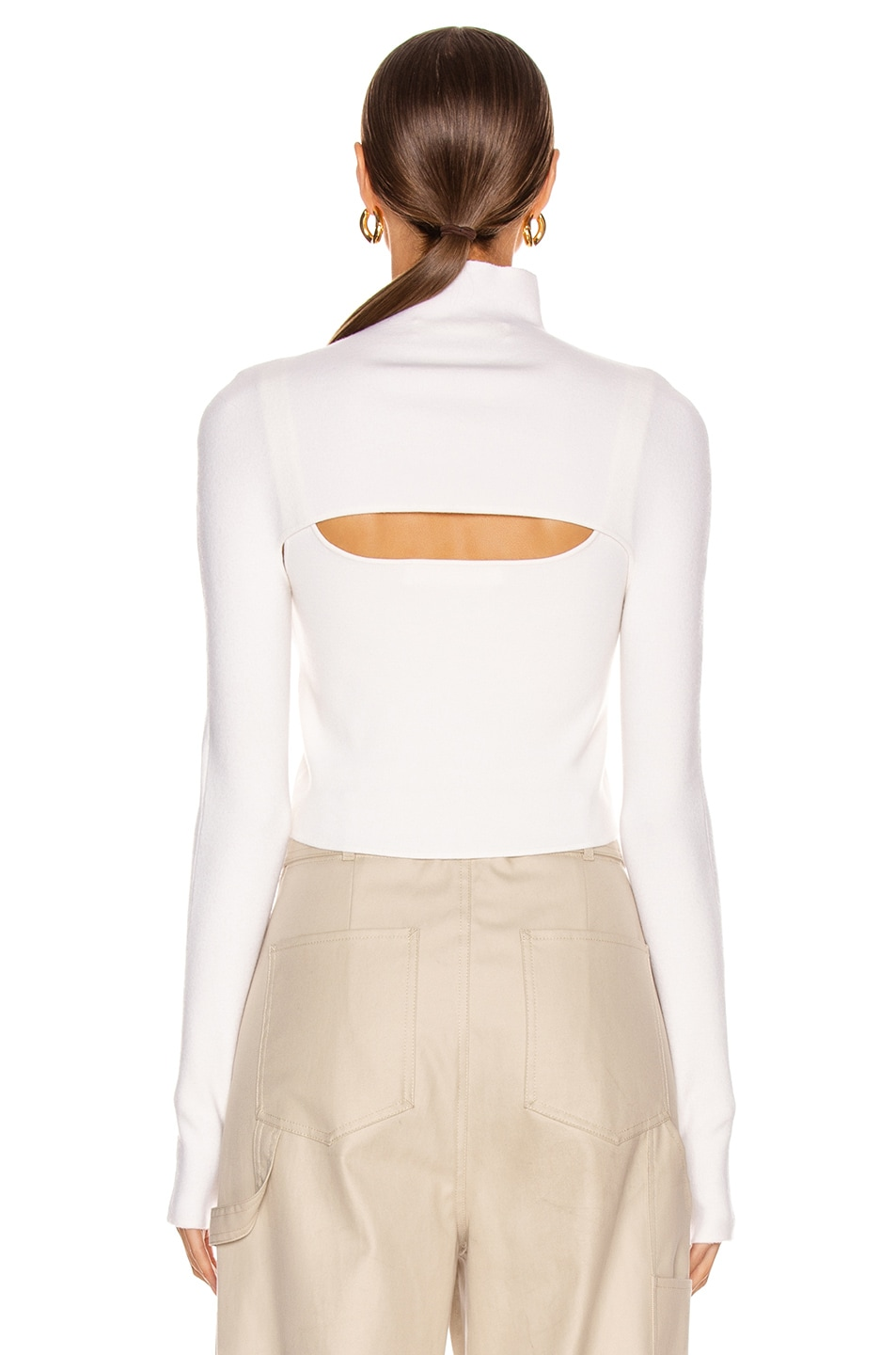 Image 4 of Dion Lee Stirrup Top in Ivory