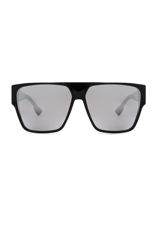6f7104a304cbf Image 1 of Dior Hit Sunglasses in Black   Gray Silver