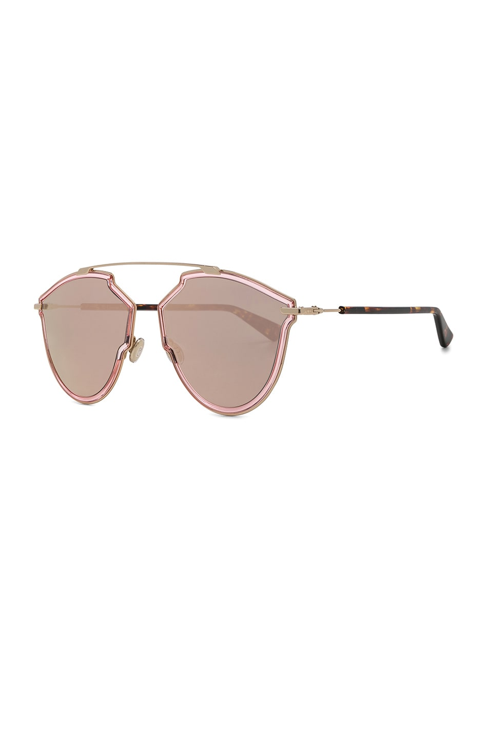 Dior So Real Rise Sunglasses In Pink Gold Amp Gray Rose Gold