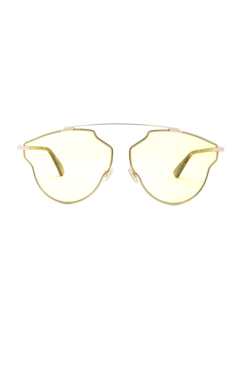 Image 1 of Dior So Real Pops Sunglasses in Gold & Yellow
