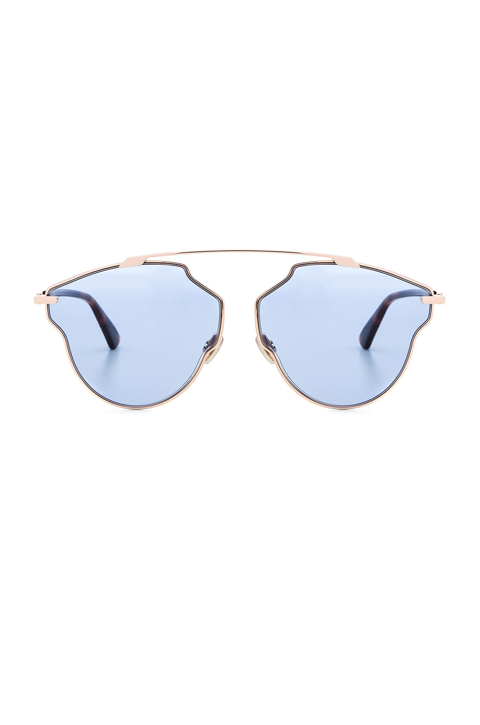 Image 1 of Dior So Real Pops Sunglasses in Gold & Blue