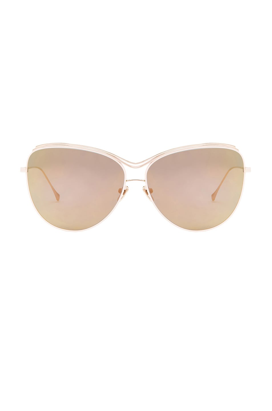 Image 1 of Dita Custom Starling Sunglasses in Pink & Light Gold Mirror