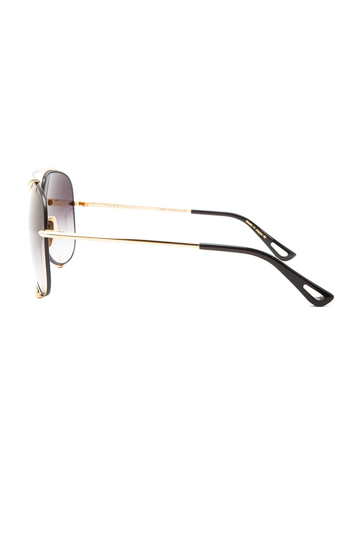 Image 3 of Dita Talon Sunglasses in Black & Gold