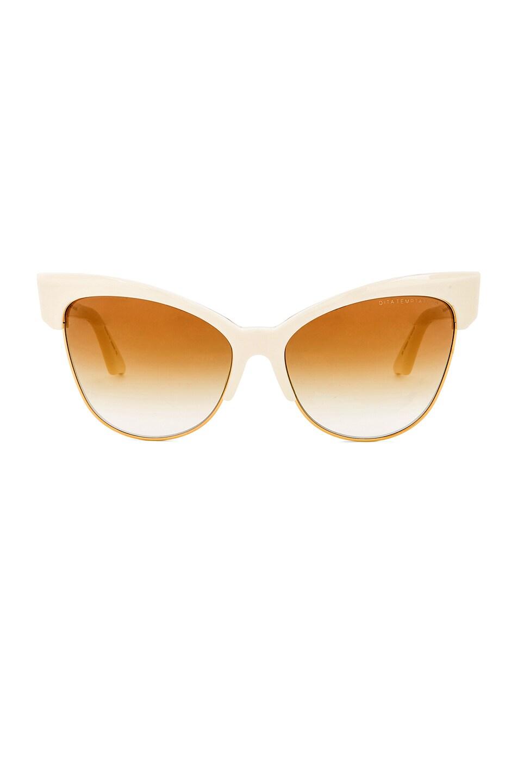 Image 1 of Dita 18K Gold Temptation Sunglasses in Cream