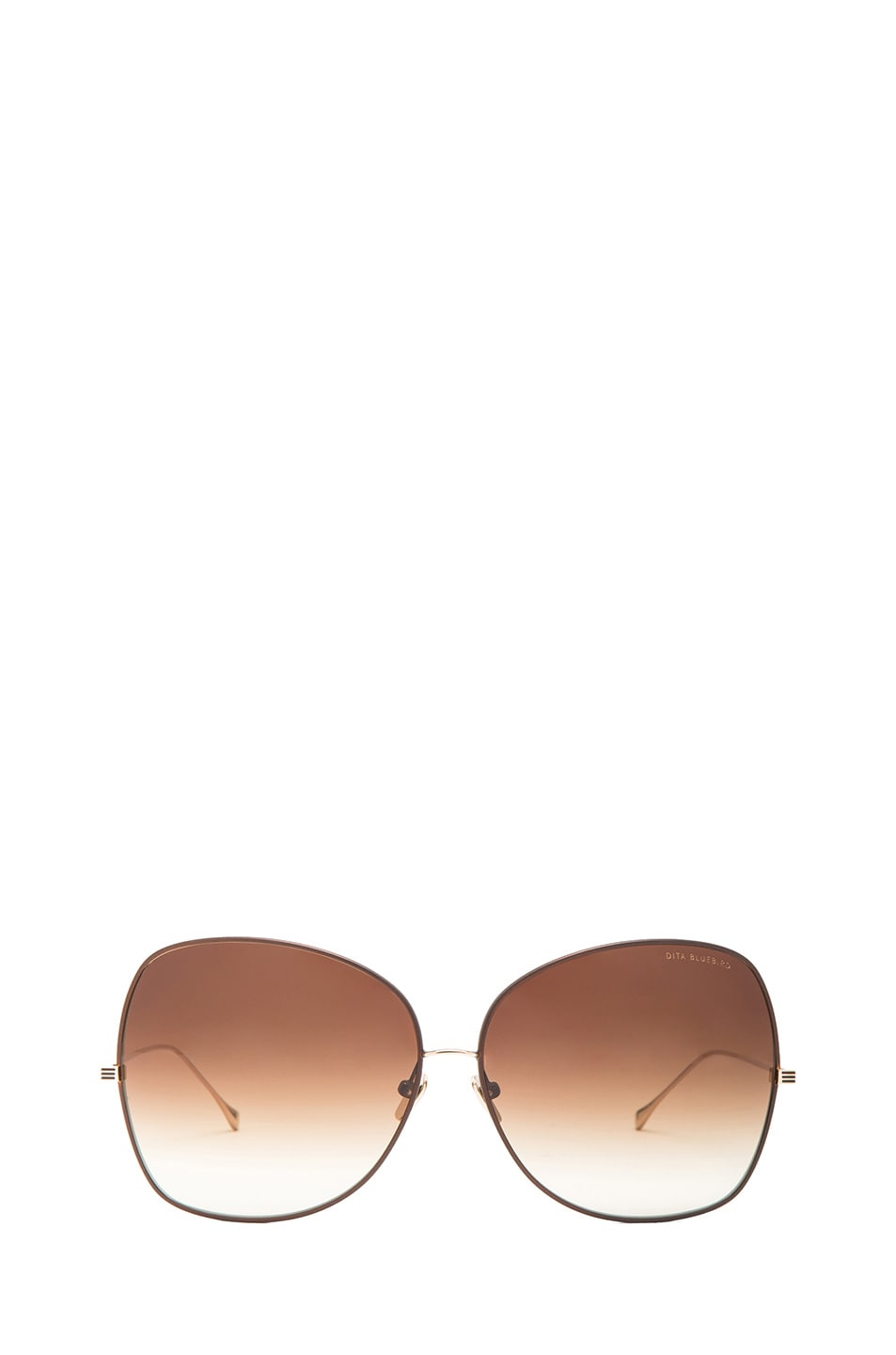 19e415fef9c5 Image 1 of Dita Bluebird Sunglasses in Brown   Champagne