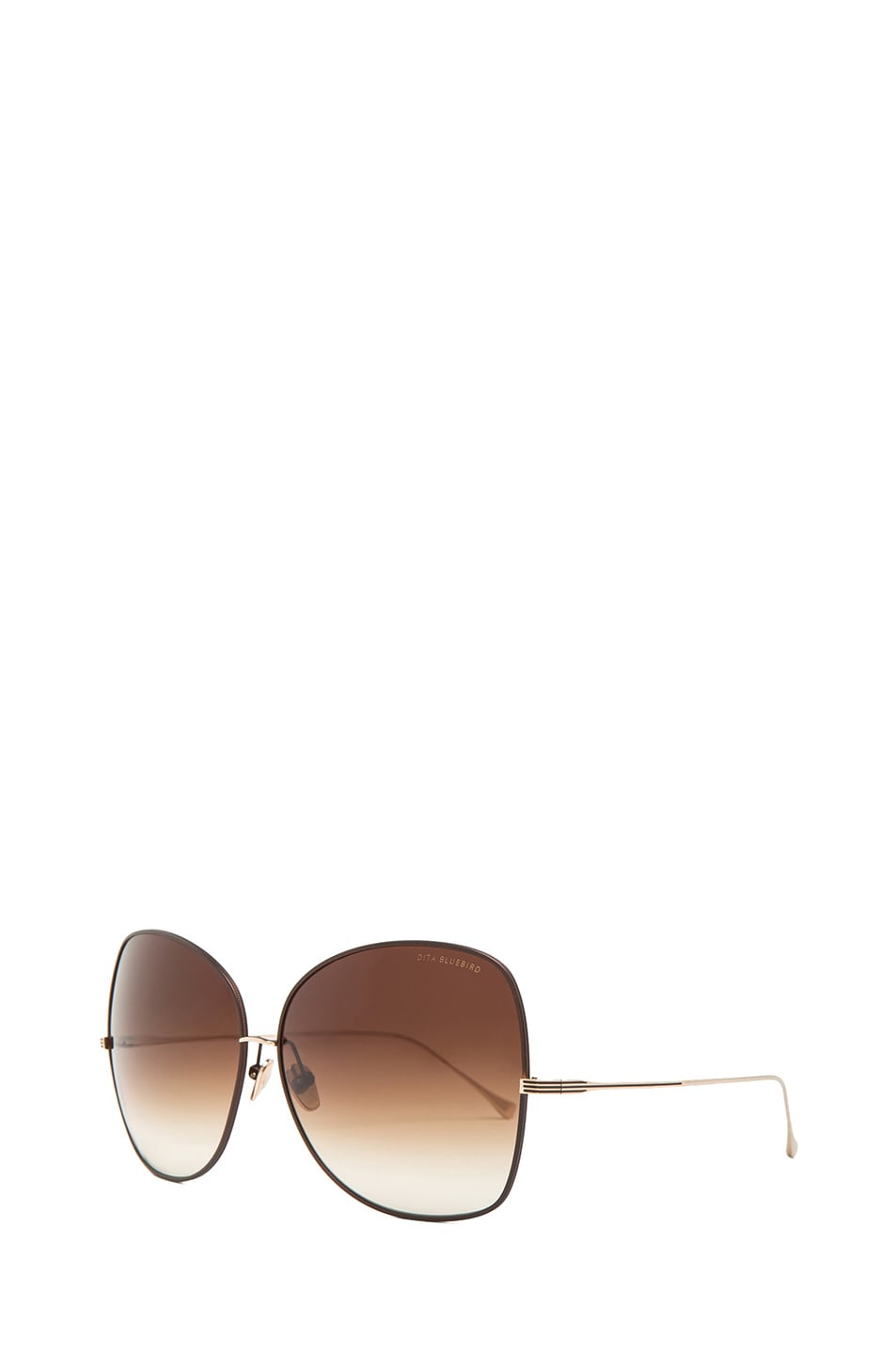0d282bf5b965 Image 2 of Dita Bluebird Sunglasses in Brown   Champagne