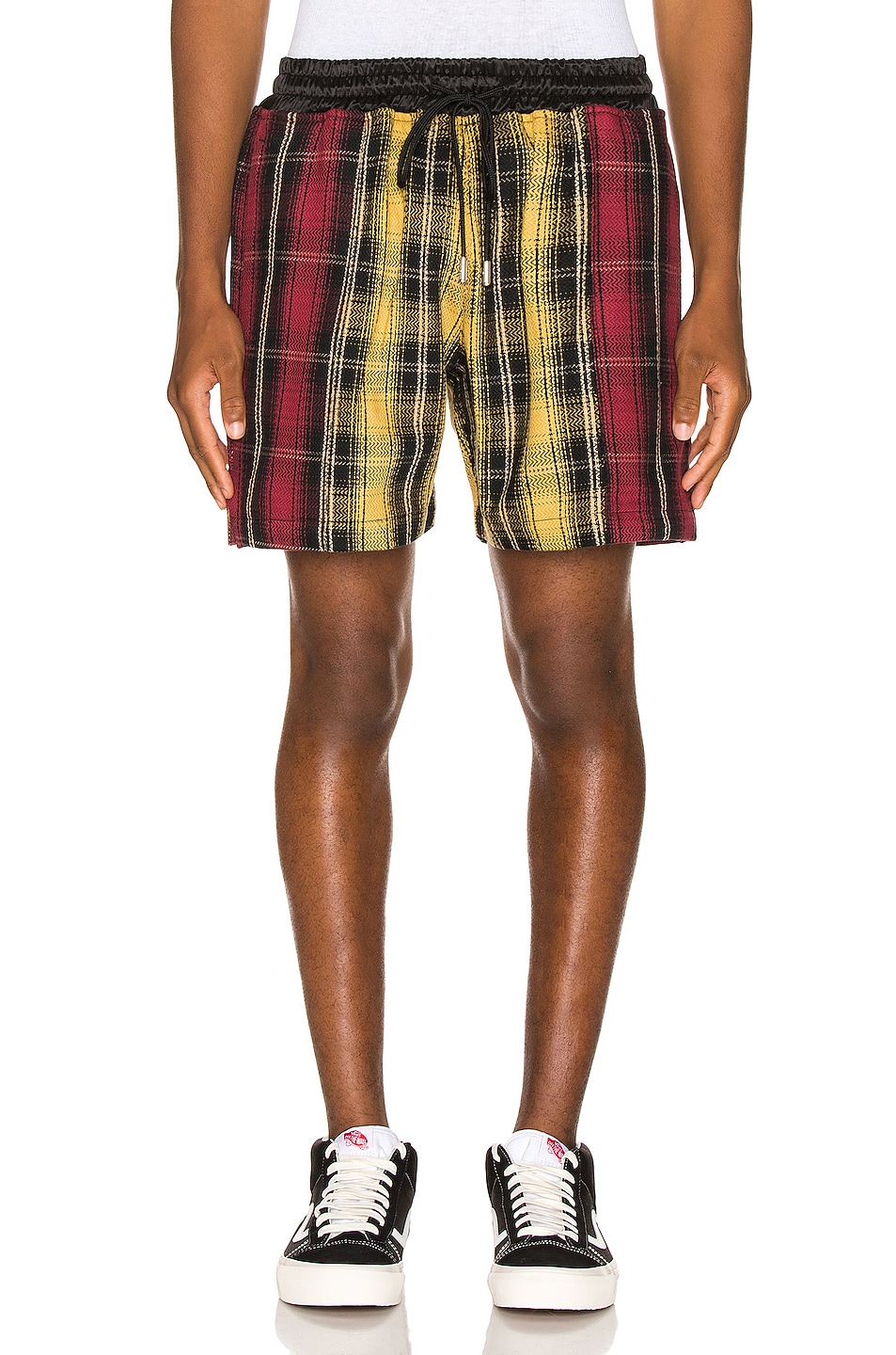 Image 1 of Just Don Panelled Plaid Short in Yellow