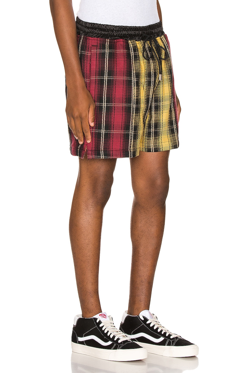 Image 2 of Just Don Panelled Plaid Short in Yellow