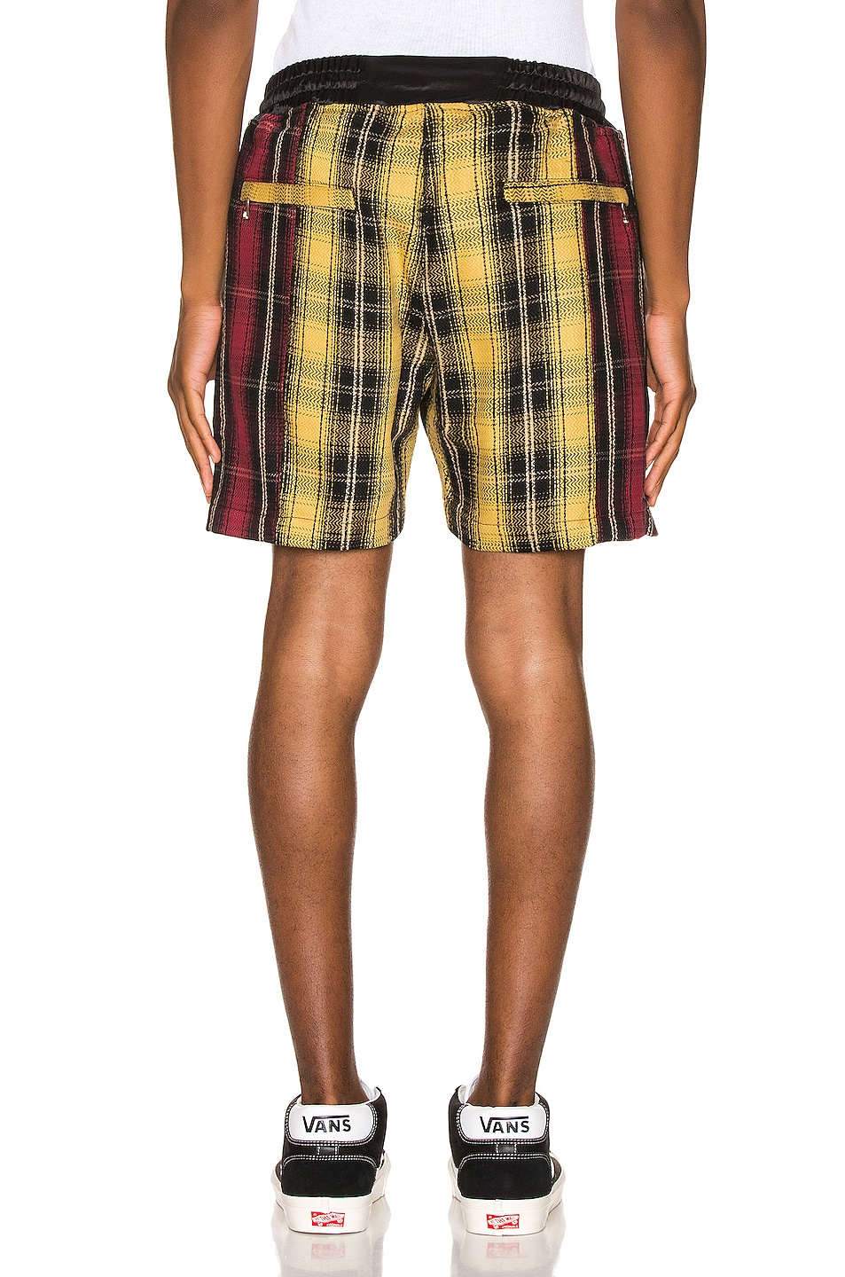 Image 3 of Just Don Panelled Plaid Short in Yellow