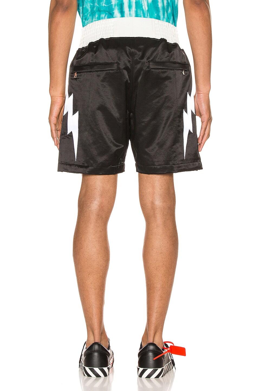 Image 3 of Just Don Lightning Bolt Boxing Short in Black